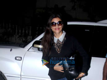Sushmita Sen spotted outside a clinic in Bandra