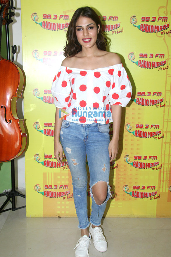 Varun Mitra and Rhea Chakraborty snapped at 98.3 FM Radio Mirchi office