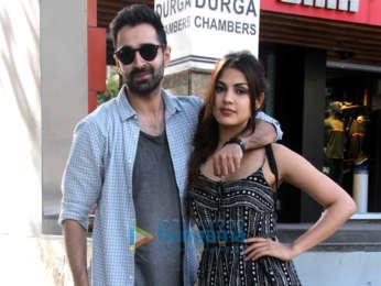 Varun Mitra and Rhea Chakraborty spotted at Vishesh Films' office in Khar