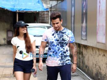 Yuvika Chaudhary and Prince Narula spotted in Bandra