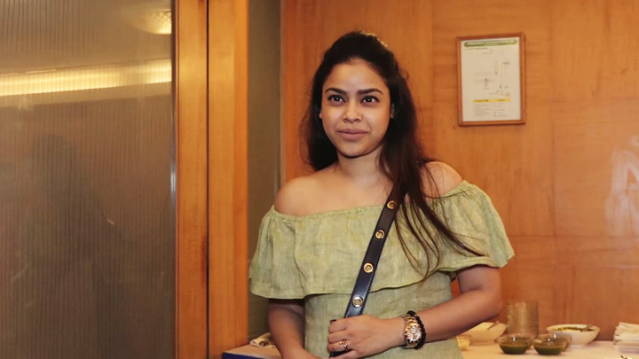 Sumona Chakravarti at Announcement of North Bombay Sarbojanin Durga Puja Samiti