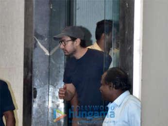 Aamir Khan and Kiran Rao spotted at Roy Kapur Films in Bandra