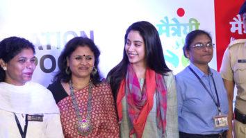 CUTE Janhvi Kapoor attend Screening of Film Haat The Weekly Bazaar