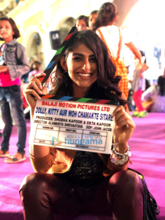 On The Sets Of The Movie Dolly, Kitty Aur Woh Chamakte Sitare