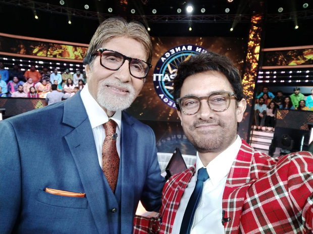 Thugs Of Hindostan stars Aamir Khan and Amitabh Bachchan reunite on Kaun Banega Crorepati; continue to play the game after timer goes off