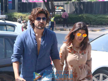 Gurmeet Choudhary and Debina Bonnerjee spotted at Yauatcha for lunch