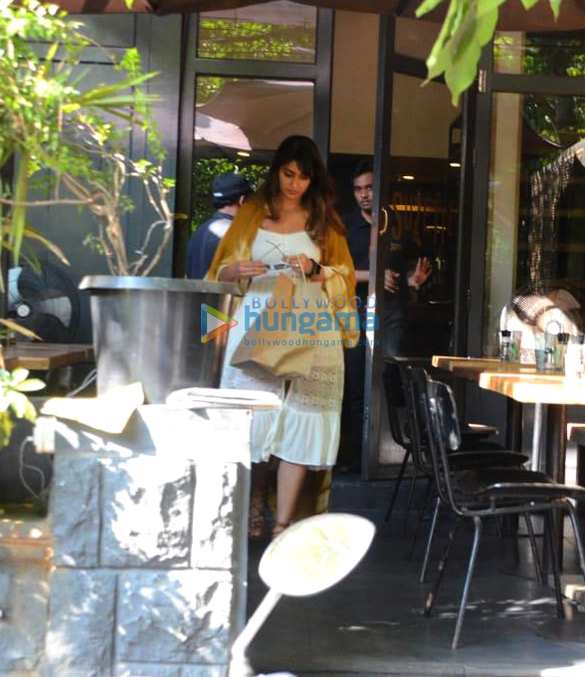 Ileana D'cruz snapped at Suzette Cafe
