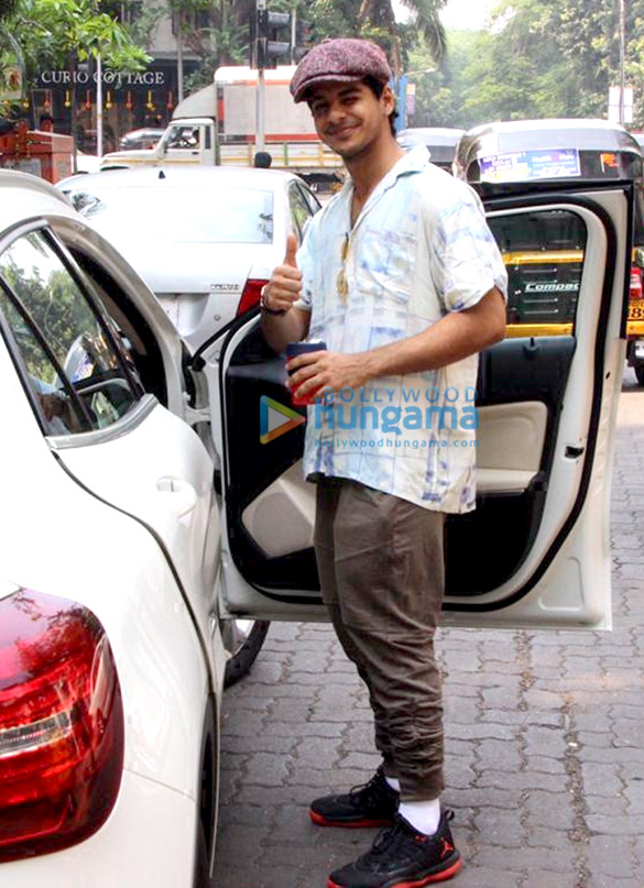 Ishaan Khatter spotted at a dubbing studio