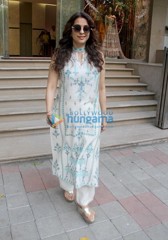 Juhi Chawla spotted at Aza store