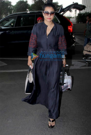 Kajol and Hansika Motwani snapped at the airport