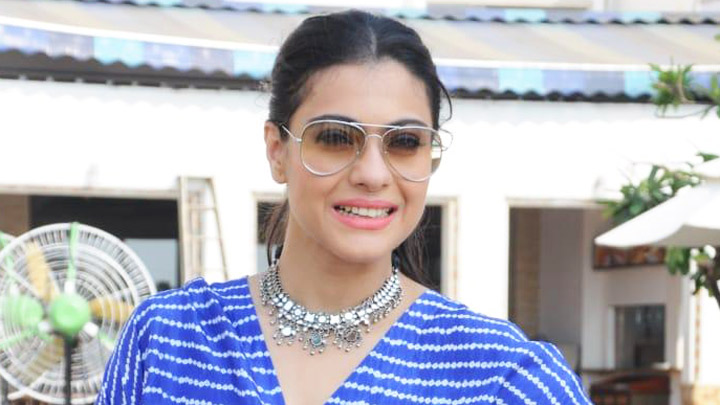 Kajol spotted promoting Helicopter Eela at Sun and Sand hotel in Juhu