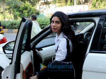 Khushi Kapoor snapped post salon session in Juhu