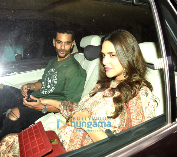 Neha Dhupia, Rajkumar Hirani, Siddharth Roy Kapur and others snapped in Bandra (1)