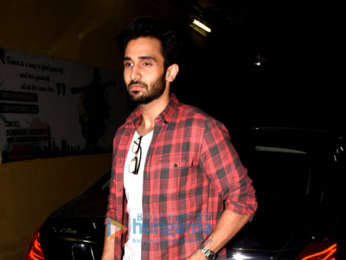 Radhika Apte and Rohan Mehra snapped at the special screening of 'Baazaar'