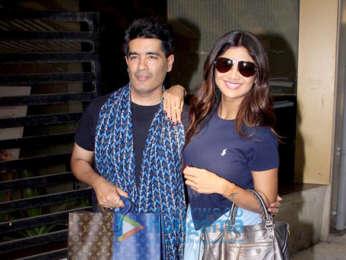 Shilpa Shetty spotted at Manish Malhotra's office
