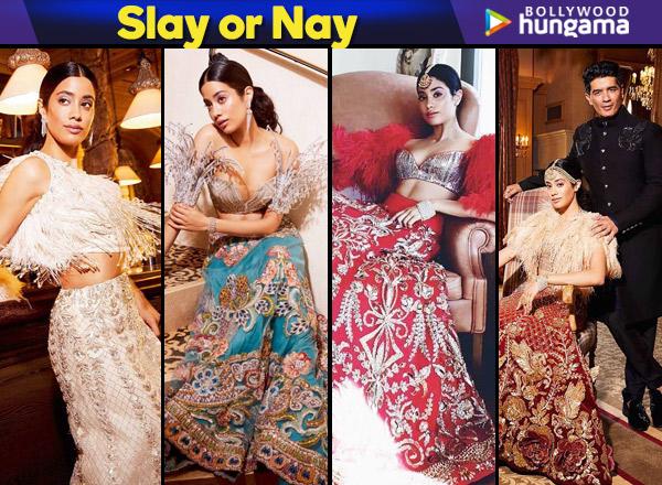Slay or Nay - Janhvi Kapoor in Manish Malhotra for Brides Today