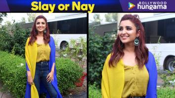 Slay or Nay - Parineeti Chopra in Payal Khandwala for Namaste England promotions