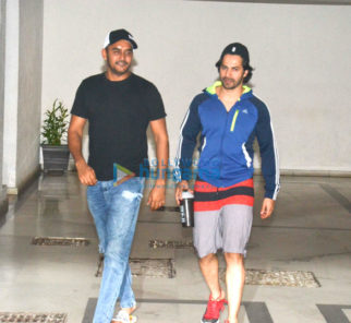 Varun Dhawan, Ayan Mukerji and Shashank Khaitan snapped at Karan Johar's residence in Bandra