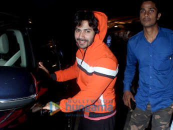 Varun Dhawan snapped outside a gym in Juhu