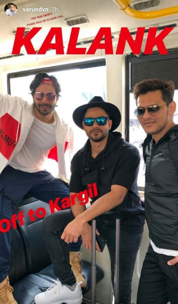 Varun Dhawan takes off to Kargil for Kalank shoot (see picture)