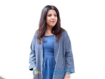 Zoya Akhtar and Neha Dhupia snapped on sets of the show No Filter Neha