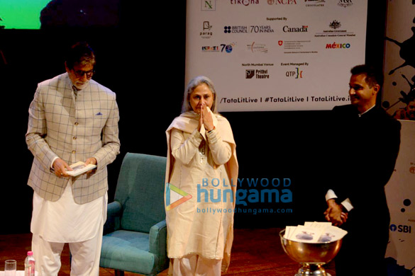 Amitabh Bachchan and Jaya Bachchan snapped at the launch of Siddharth Shanghvi's new book 'The Rabbit & The Squirrel' at 9th edition of Tata Literature Live-0 (1)