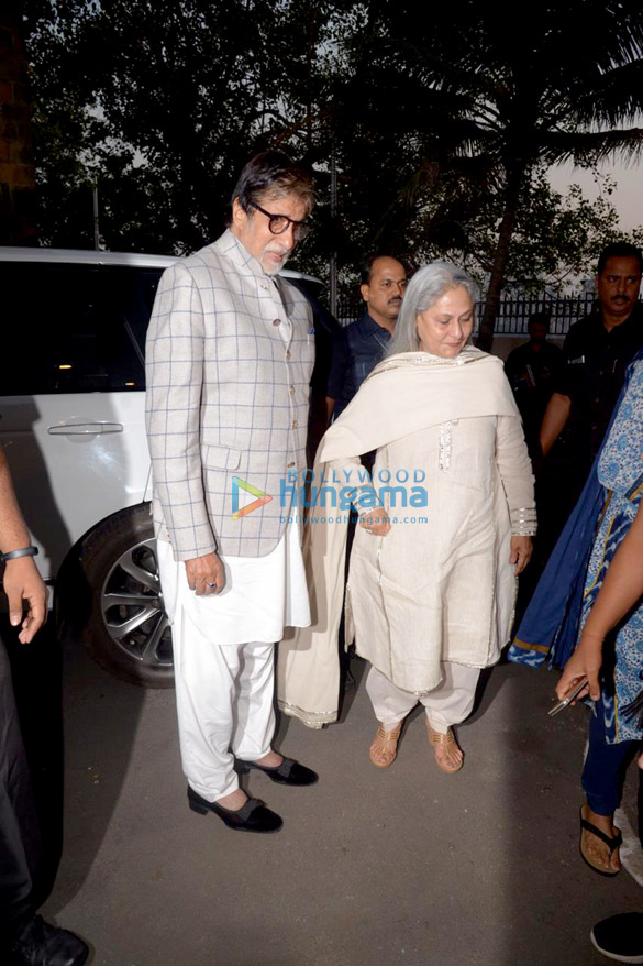 Amitabh Bachchan and Jaya Bachchan snapped at the launch of Siddharth Shanghvi's new book 'The Rabbit & The Squirrel' at 9th edition of Tata Literature Live (3)