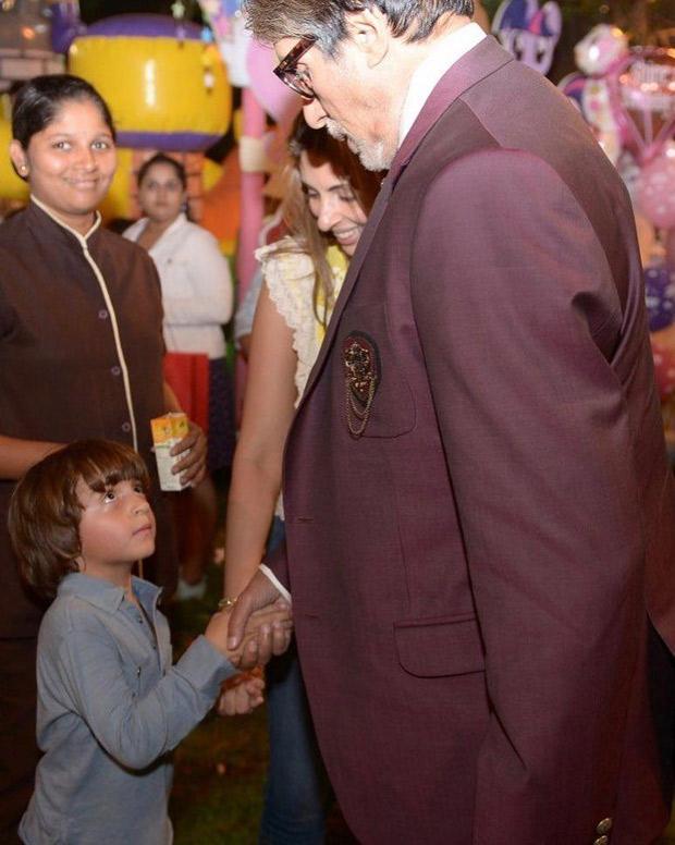 CUTE! Amitabh Bachchan reveals Shah Rukh Khan's son AbRam ...