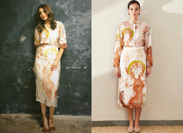 Anushka Sharma in Aarti Vijay Gupta x Bhuli Art for Zero promotions (1)