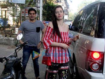 Arbaaz Khan and Giorgia Andriani snapped in Bandra