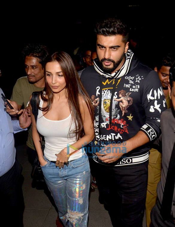 Arjun Kapoor, Malaika Arora and Varun Dhawan spotted after dinner in Bandra
