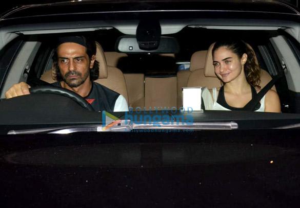 Arjun Rampal and Gabriella Demetriades spotted at Turf Park in Bandra (5)