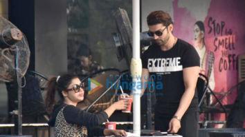 Gurmeet Choudhary and Debina Choudhary spotted at CCD, Bandra
