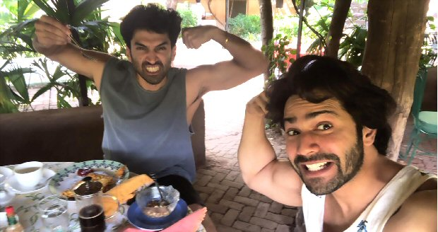 Kalank duo Varun Dhawan and Aditya Roy Kapur wrap up Indore schedule with their bromance