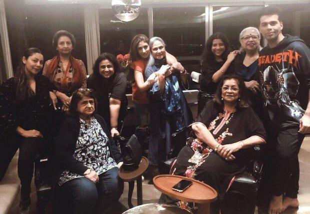 Karan Johar, Gauri Khan, Shweta Bachchan party with their mothers