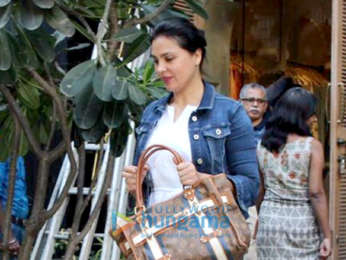 Lara Dutta spotted at Anita Dongre's store in Khar