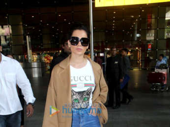 Malavika Mohanan and Kangana Ranaut snapped at the airport
