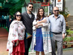 Neha Dhupia snapped after being discharged from hospital