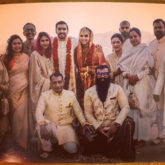 Newlyweds Ranveer Singh and Deepika Padukone look regal in Konkani style wedding outfits as they strike a pose with their squad in Italy