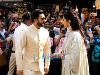 Newlyweds Ranveer Singh and Deepika Padukone snapped at Siddhivinayak temple