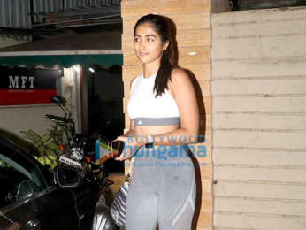 Pooja Hegde snapped at a clinic in Bandra