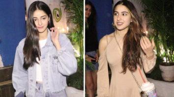 SPOTTED Actress Sara Ali Khan and Ananya Pandey @ Olive