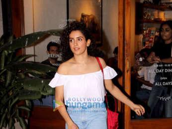 Sanya Malhotra spotted at Sequel