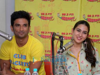 Sara Ali Khan and Sushant Singh Rajput promote 'Kedarnath' at 98.3 FM Radio Mirchi