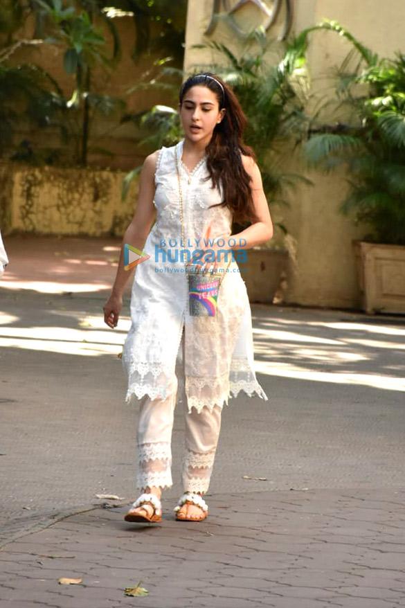 Sara Ali Khan snapped outside the gym