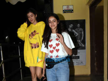 Shanaya Kapoor and Ananya Pandey snapped at PVR, Juhu