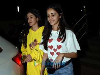 Shanaya Kapoor and Ananya Pandey snapped at PVR, Juhu
