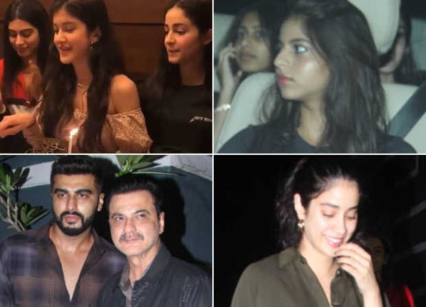 Suhana Khan, Ananya Panday, Arjun Kapoor, Janhvi Kapoor, Khushi Kapoor come together celebrate Shanaya Kapoor's 19th birthday