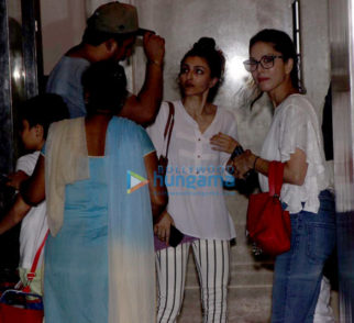 Sunny Leone, Rannvijay Singh spotted at Soha Ali Khan's residence