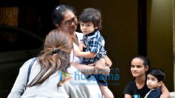 Taimur Ali Khan, Inaaya Naumi Kemmu and Laksshya Kapoor spotted at play school in Bandra